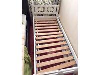 Lamb - IKEA wooden bed frame with mattress boy-girl