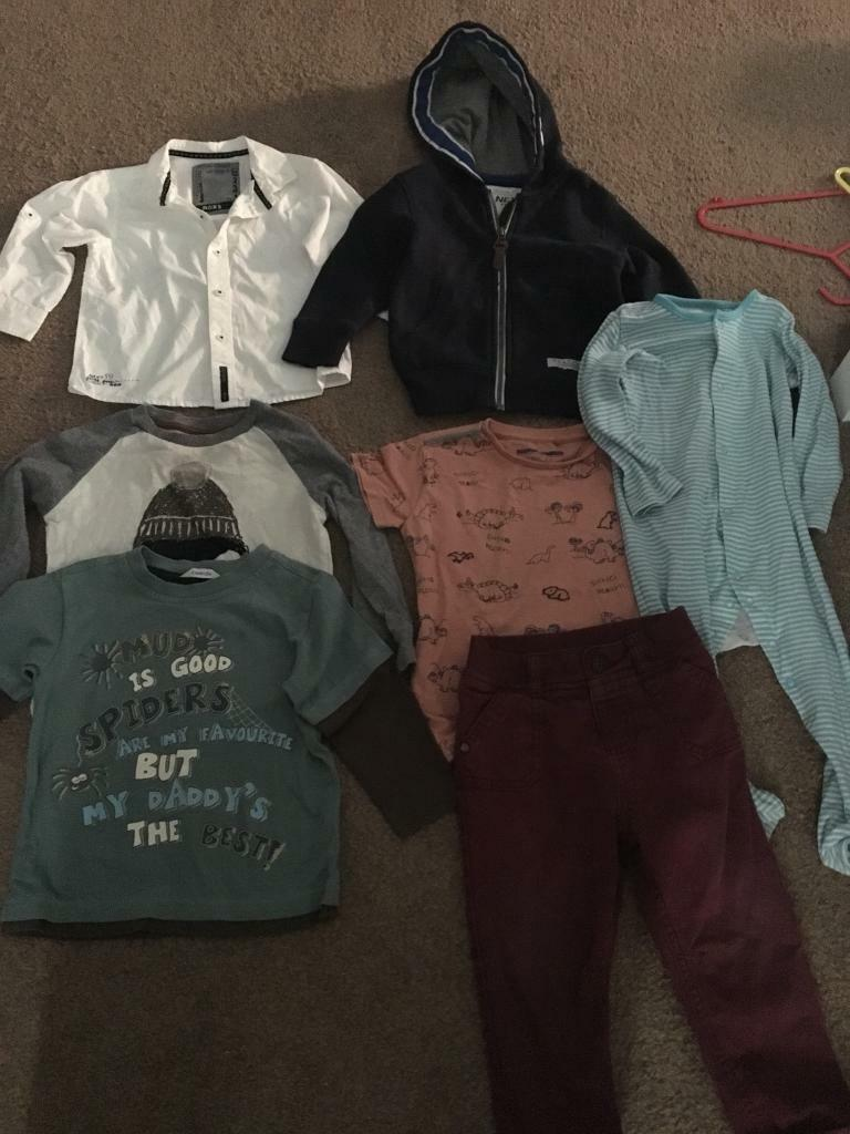 Boys 12 18 months bundlein Long Eaton, Nottinghamshire - Bundle mostly next. Includes a jumper , shirt and tshirt (all next) two long sleeve tshirts , trousers and a sleep suitCollection Sawley