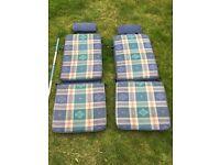 2 x Garden chair/lounger covers