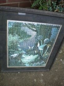 A JIGSAW FRAMED PICTURE OF A FAIRY 36X24 INCHES VERY NICE FRAME