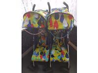 Cosatto fie&fo double buggy