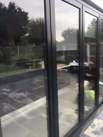 Black Aluminium Patio Bifold Doors