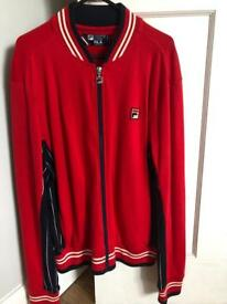 Small Men's Red Fila Jumper