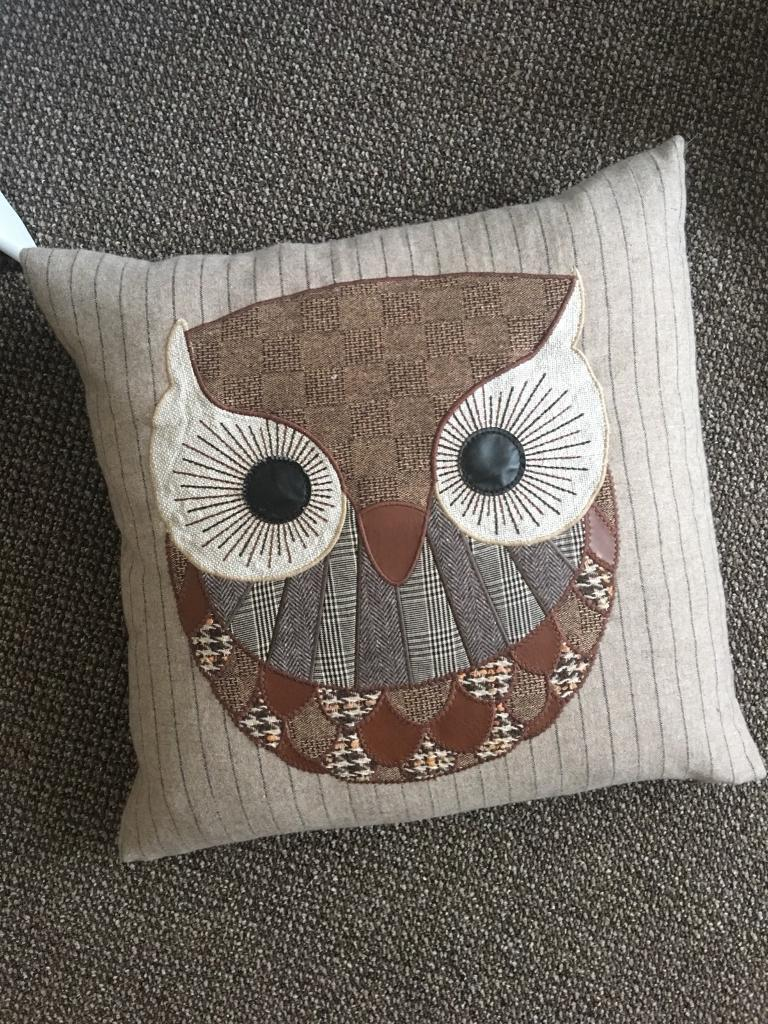 Large M&S owl cushion with M&S feather insert