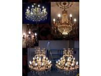 Chandelier cleaning, repair and restoration services