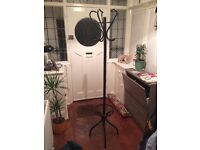 Hat and coat stand, black metal