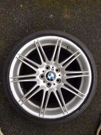 GENUINE BMW MV4 FRONT 8J ALLOY + TYRE *NO CRACKS*
