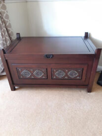 Indonesian Wooden Storage Chest / Coffee Table
