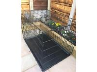 Large Dog Cage - Black - Very Good Condition - WHITEFIELD