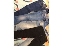 4 joblot denim jeans- madewell, quality denim X2 asos