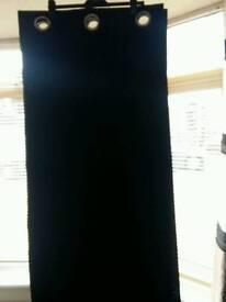 Black faux satin curtains