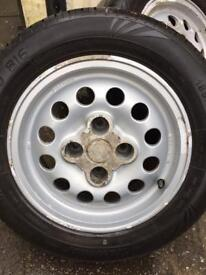 Peugeot 205 GTI pepper pot alloy wheels