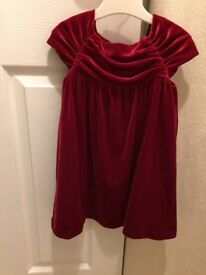 Girls red Christmas dress M&S 18-24 months