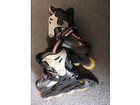Childrens roller blades size 10-13 inline skates
