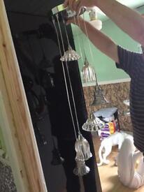 Pendulum hanging lights 6 drop lights x2