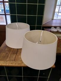 Two lightshades 12 inch diameter excellent central London bargain
