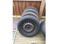 4 wheels and michelin tyres 4x100 PCD