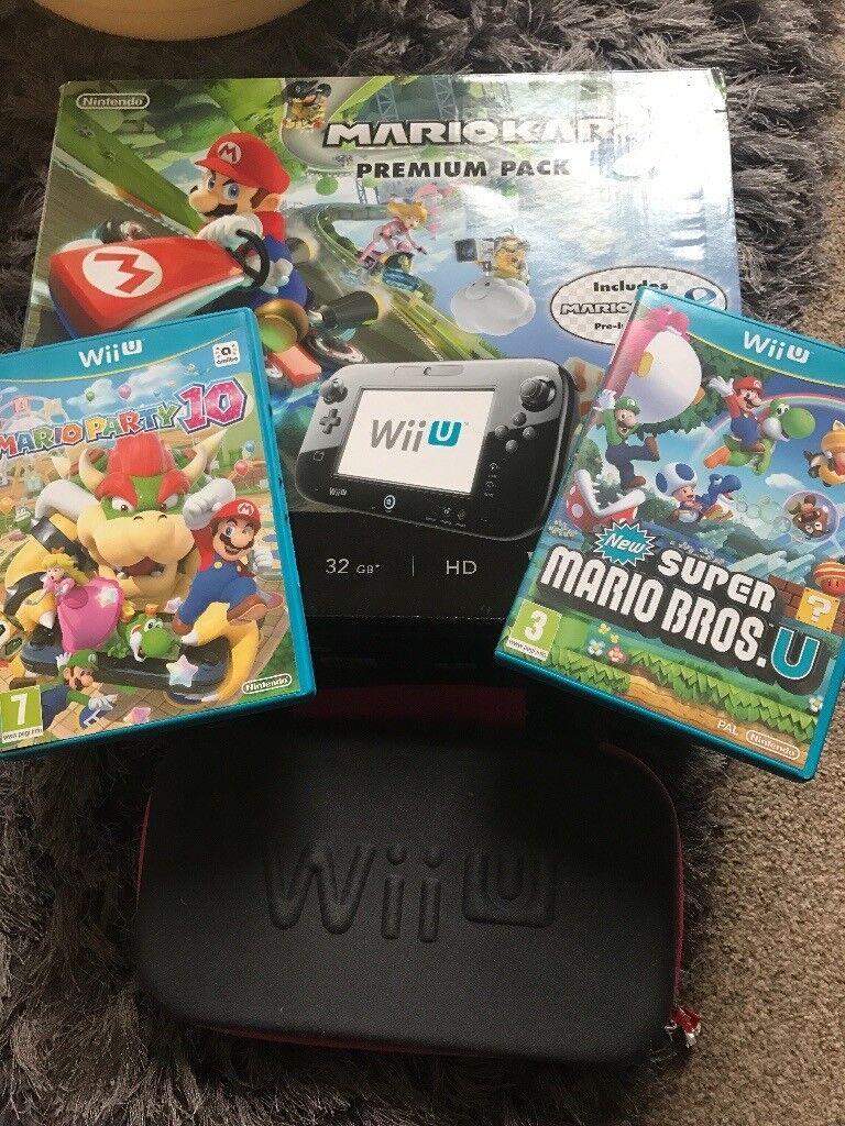 Nintendo wii U black premium edition