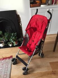Nearly New Red Maclaren Globetrotter pushchair / buggy