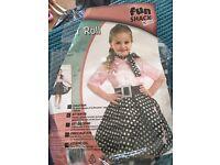 Girls rock n roll fancy dress worn once