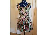Apricot vintage floral dress s