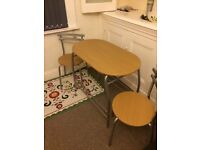 Great compact table and two chairs, ideal for a flat or smaller front room - £25!