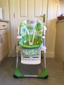Highchair Chicco Polly 2in1 Feeding chair- excellent condition