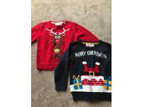 Two Christmas jumpers age 5/6