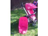 Quinny Buzz buggy pram carry cot plus wheel converter