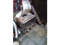 Cast iron inset fire woodburner