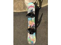 Rossignol Youth 140cm Snowboard with brand new Atomic bindings