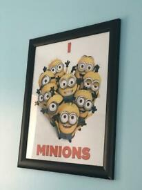 Minions wall frame