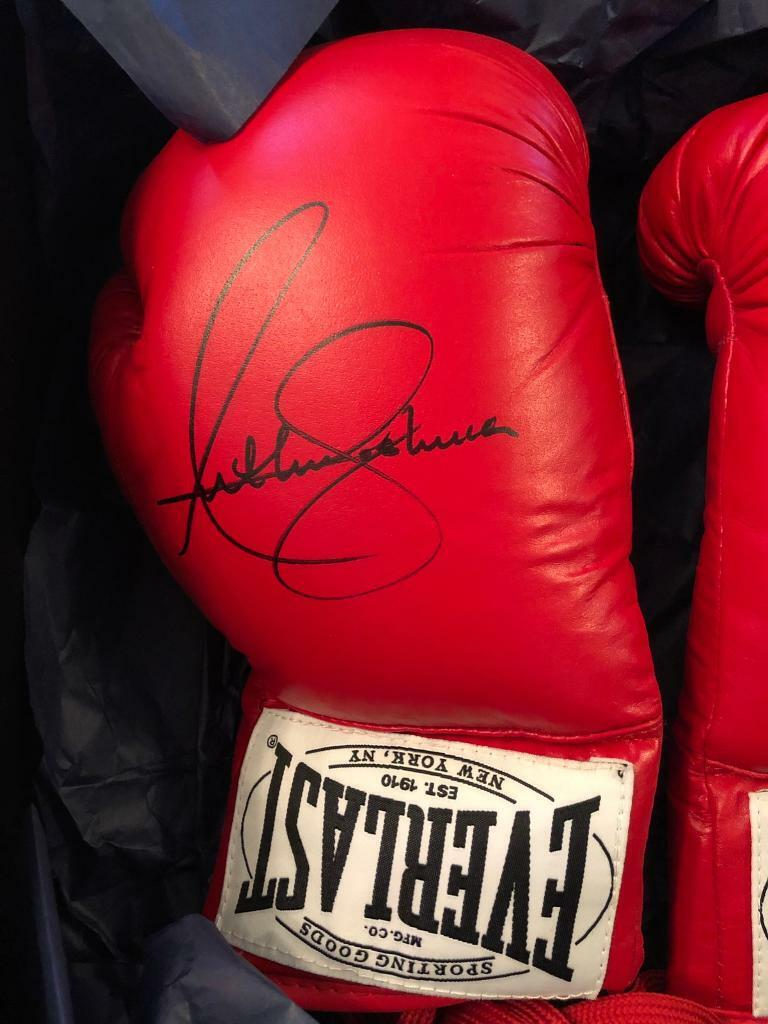 Pair of signed Anthony Joshua boxing gloves | in Newton Mearns, Glasgow |  Gumtree