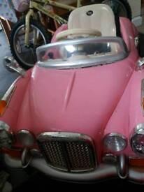 24 v pink battery car