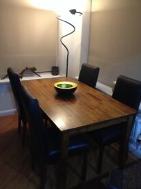 Dining table and chairs plus a 3 set coffee tables