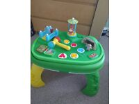 The In the Night Garden music activity table.