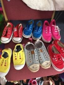Kids vans and converse and next shoes