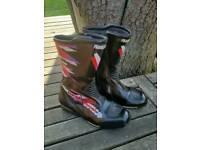Frank Thomas Motorcycle Boots. Size U.K. 8