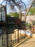 Gated steel Archway and gazebo