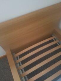 Malm single bedframe - oak veneer