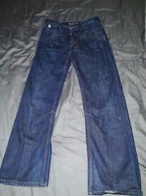 Mens jeans size 32 regular loose fit