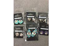 Ladies earrings studs Bundle Job Lot NEW