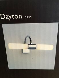 Astro Dayton (Bathroom) Light in Polished Chrome with Glass Shade
