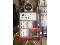Vintage eye testing machine