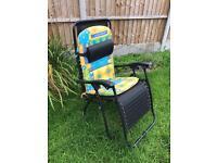 2 x Reclining sun chairs + matching umbrella