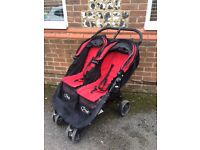 Red double mini city stroller buggy