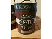 Farrow and ball water based paint in 2.5 and 5 litre tins
