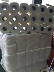 36 Toilet Rolls, 2 PLY 200 Sheets Tissue Quilted Paper Virgin Pulp White Colour, Embossed Pattern