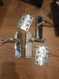 Chrome door handles and hinges