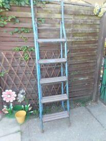 Vintage heavy metal step ladder